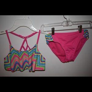 Neon Chevron Bikini Set | Kids' Swim | Girls